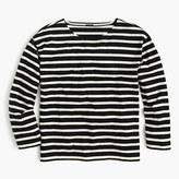 J.Crew Long-sleeve striped crewneck T-shirt
