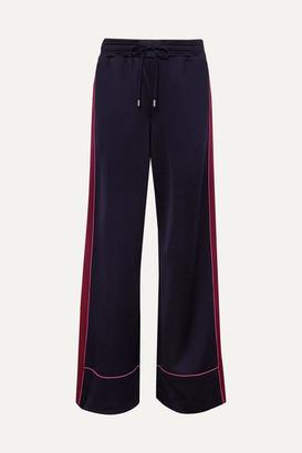 Ninety Percent Striped Satin-jersey Track Pants - Navy