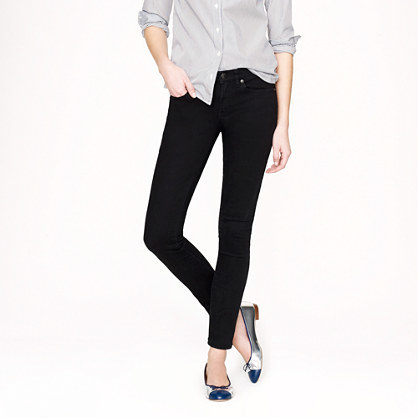 J.Crew Stretch toothpick jean in pitch black wash