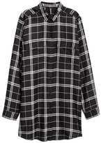 H&M Long Shirt - Khaki green - Ladies