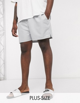 Nike Swimming Plus 5inch Volley shorts in gray