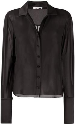 Patrizia Pepe Semi-Sheer Long-Sleeve Shirt