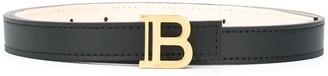 Balmain Logo-Buckle Leather Belt