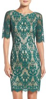 Eliza J Petite Women's Lace Sheath Dress