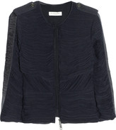 Burberry Ruched georgette jacket