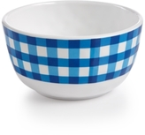 Certified International Frida Gingham Blue Melamine Cereal Bowl