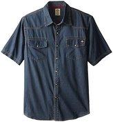 Dickies Men's Short-Sleeve Denim Western Shirt