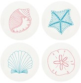 The Well Appointed House Beach Shells Letterpressed Coasters-Set of 100 - ONLY 5 SETS LEFT IN STOCK IN OUR GREENWICH STORE FOR QUICK SHIPPING