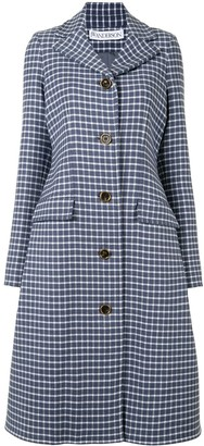 J.W.Anderson Check Pattern Single-Breasted Coat