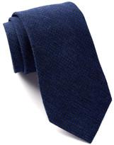 Calvin Klein Twill Indigo Houndstooth Tie