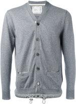 Sacai drawstring cardigan - men - Cotton/Cashmere - 3