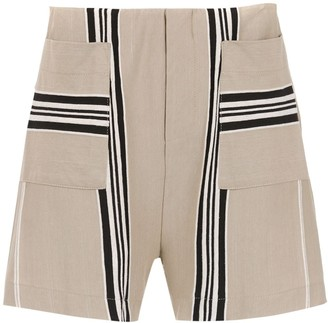 OSKLEN Shorts With Striped Details