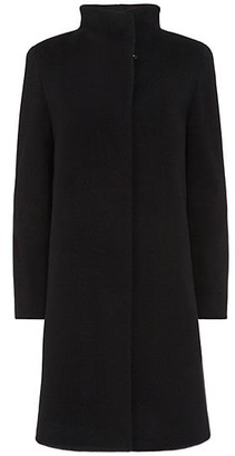 Cinzia Rocca Wing-Collar Wool-Cashmere Coat