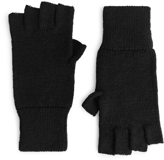 Arket Raw wool Fingerless Gloves