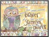 "Art.com Owl Family Braver Stronger Smarter"" Wall Art"