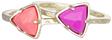 kendra scott ann stackable rings pink hibiscus