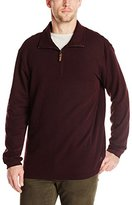 Haggar Men's Knit Flat Back Rib Quarter Zip Sweater