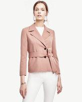 Ann Taylor Belted Twill Jacket