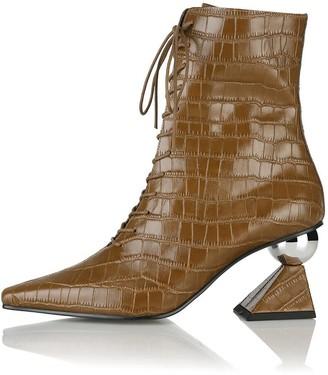 YUUL YIE Gloria Glam Heel Boots Camel Croc