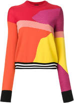 Paul Smith colour-block textured knit sweater
