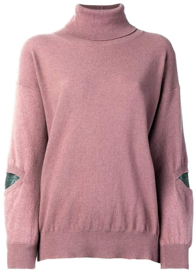 Fabiana Filippi roll-neck fitted sweater