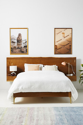Anthropologie Prana Live-Edge Bed By in Brown Size KG TOP/BED