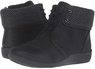 Clarks Sillian Frey (Black Synthetic Nubuck) Women's Shoes