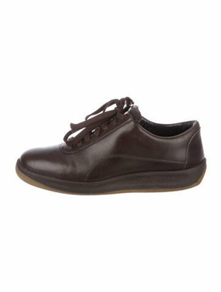 Louis Vuitton Leather Sneakers Brown
