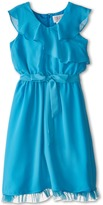 Us Angels Sleevless Wrap Front w/ Full Skirt (Big Kids)