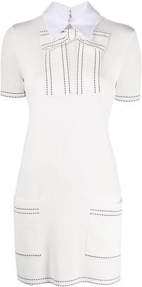 Elisabetta Franchi Collared Knit Mini Dress