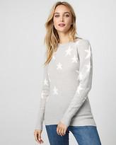 Le Château Star Print Knit Crew Neck Sweater