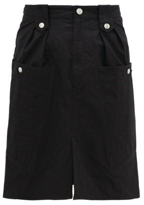 Isabel Marant Kalosia High-rise Cotton Midi Skirt - Womens - Black