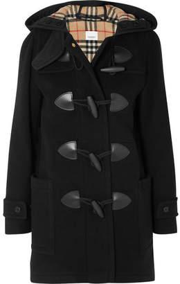 Burberry Hooded Wool-blend Felt Coat - Black