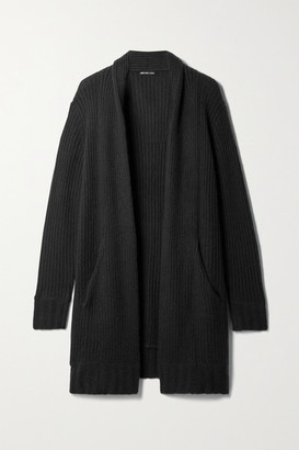 James Perse Ribbed Cashmere Cardigan - Black