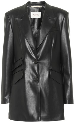 Nanushka Faux-leather blazer