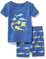 Old Navy 2-Piece Shark-Graphic Sleep Set for Toddler & Baby