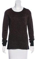 Maje Paneled Glittered Sweater w/ Tags