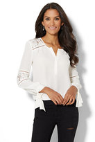 New York & Co. Lace-Accent Blouse