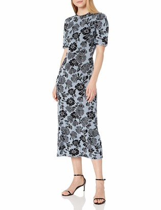 Rebecca Taylor Women's Short Sleeve Lurex Jacquard Dress
