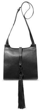 Halston Christie Tasseled Pebbled-leather Shoulder Bag