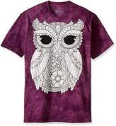 The Mountain Men's Colorwear Owl 3 Adult Coloring T-Shirt