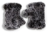 Saks Fifth Avenue Women's Dyed Rabbit Fur Fingerless Gloves