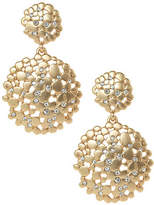 ABS by Allen Schwartz Double Drop Flower Cluster Earrings