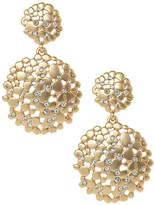 ABS by Allen Schwartz Double Drop Flower Cluster Earrings