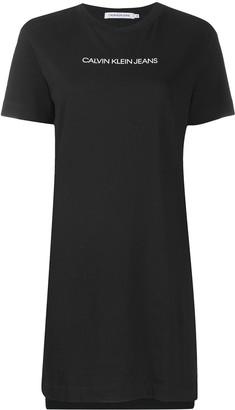 Calvin Klein Jeans Crew Neck Logo Jersey Dress