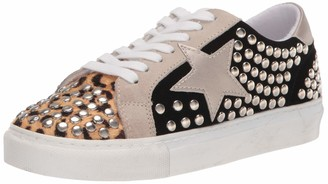 Steve Madden Women's Turner-S Sneaker Black With Studs 8 M US