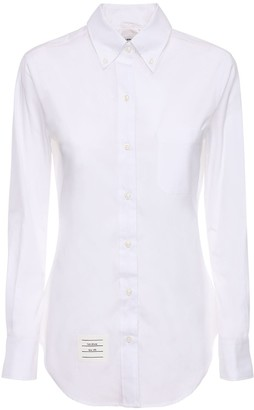 Thom Browne Cotton Poplin Shirt W / Piping Detail