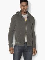 John Varvatos Burnout Zipped Hoodie