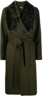 Mackage Belted Sheepskin Collar Coat