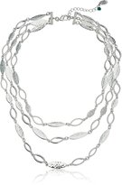 """Nine West VINTAGE AMERICA """"Metals In The Mix"""" -Tone Multi-Row Necklace, 16"""""""